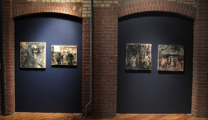 Installation view of Newsies by Michelle Bialy