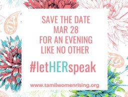 Tamil Women Rising: #letHERspeak